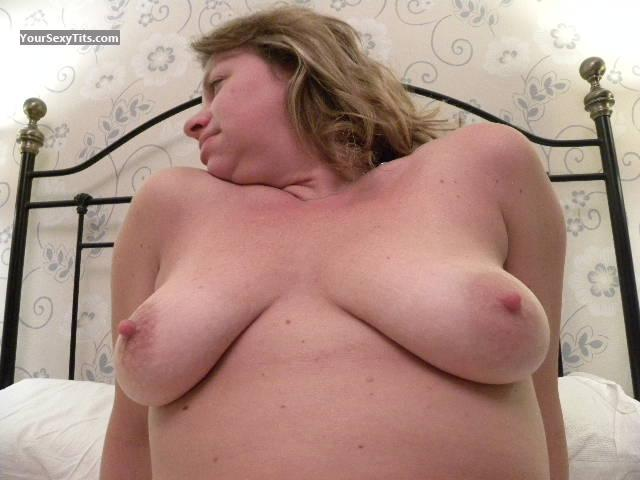 Tit Flash: Medium Tits - Topless Miss K from United Kingdom